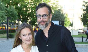 Szymon Majewski z żoną Magdaleną, gala Kryształowe Zwierciadła 2018