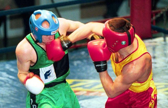28.04.1999 Hala Gwardii. W ringu Sławomir Ziemlewicz (z prawej) i Giennadij Staruszenko