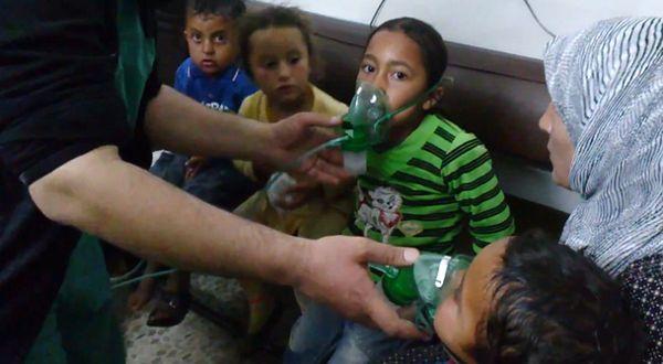 Dzieci w wiosce, gdzie miało dojść do ataku z użyciem broni chemicznej