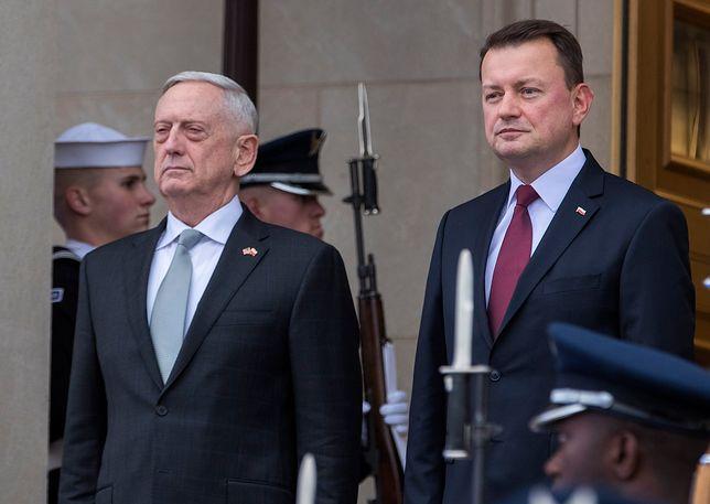 Mariusz Błaszczak rozmawiał w USA z szefem Pentagonu Jamesem Mattisem