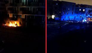 Warszawa. Pożar na Białołęce