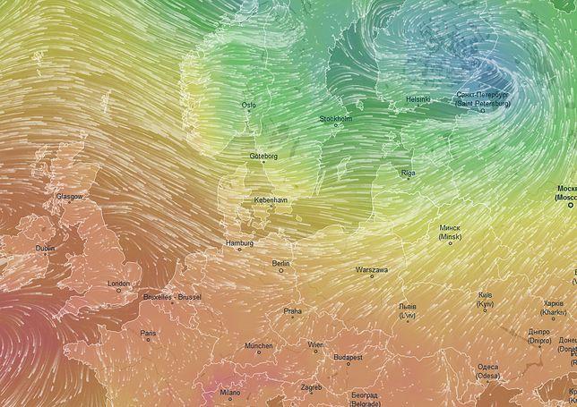 Pogoda. Potężny niż znad Sankt Petersburga przyniesie nam chłód i deszcz