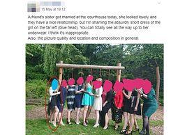 Hejt na weselnych gości. Internauci ocenili sukienkę