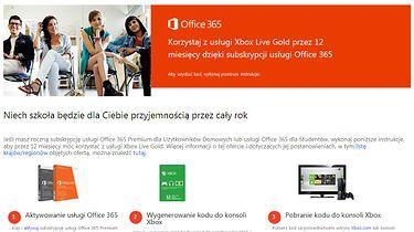 Microsoft rozdaje roczne abonamenty Xbox Live Gold nowym klientom pakietu Office