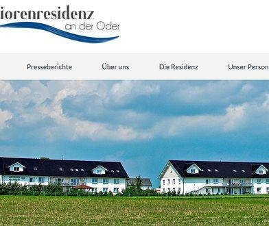 Screen strony internetowej domu seniora w Zabełkowie.