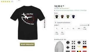 """Skandaliczne koszulki w niemieckim sklepie. """"To policzek dla Polaków"""""""