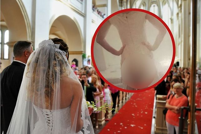 Suknia ślubna. Nietypowa ozdoba wywołała salwy śmiechu