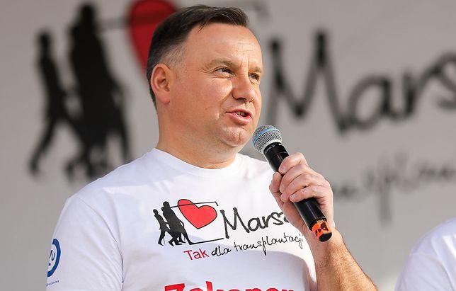 Prezydent Andrzej Duda wziął udział w akcji charytatywnej