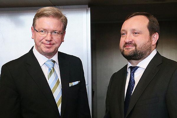 Sztefan Fuele i Serhij Arbuzow
