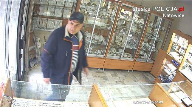 Ukradł paletę ze złotą biżuterią. Policja publikuje jego wizerunek