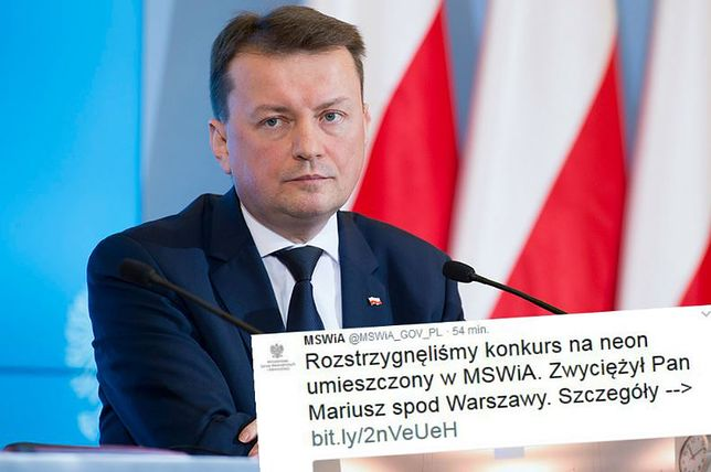 MSWiA żartuje z ministra Błaszczaka. Wykorzystali jego hitowy wpis
