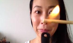 Koreanki podkręcają rzęsy używając... ognia! Tej sztuczki lepiej nie próbować w domu