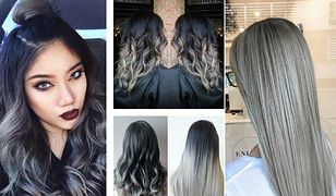 Popielate włosy to modny trend na wszystkich długościach.