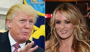 Prezydent Donald Trump i gwiazda porno Stormy Daniels