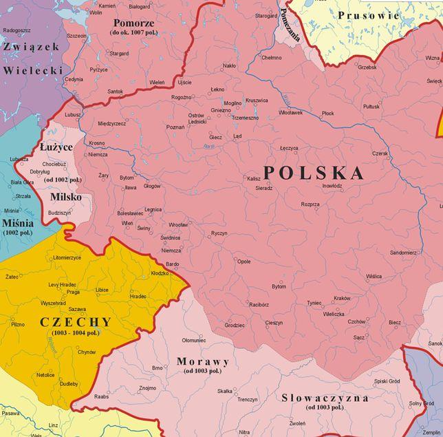 Polska za panowania Bolesława I Chrobrego.