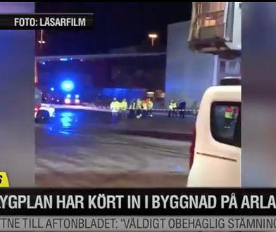 Samolot zahaczył o budynek na płycie lotniska