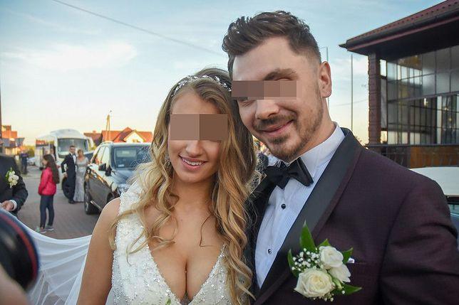 Ewelina Golczyńska w dniu ślubu z Danielem M.