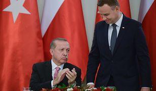 Prezydent Turcji przyjechał z oficjalną wizytą do Warszawy na zaproszenie prezydenta Andrzeja Dudy