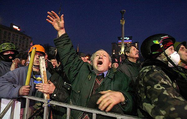 Protestujący na Majdanie