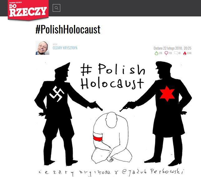 Kontrowersyjny rysunek, jaki pojawił się na stronach dorzeczy.pl