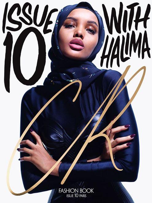 """Halima Aden na okładce """"CR Fashion Book"""""""
