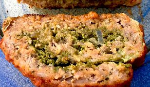 Pieczeń ze szpinakowym pesto i serem. Szybko znika z talerza