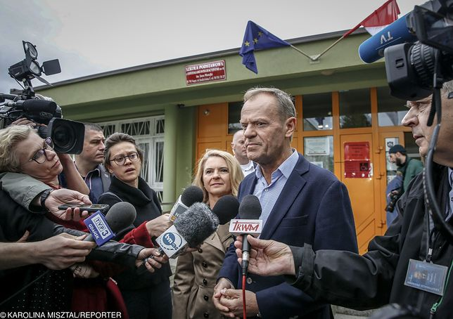 Wyniki wyborów do Europarlamentu 2019. Donald Tusk wciąż nie komentuje.