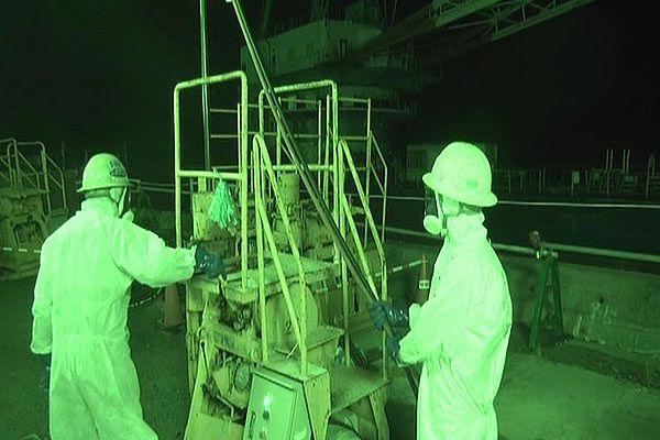 Pracownicy elektrowni Fukushima I