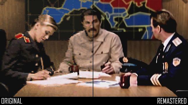 Porównanie różnicy w jakości scenek przerywnikowych w Command and Conquer: Red Alert, fot. EA