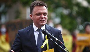Wybory 2020. Niezależny kandydat Szymon Hołownia podczas konferencji w Krakowie