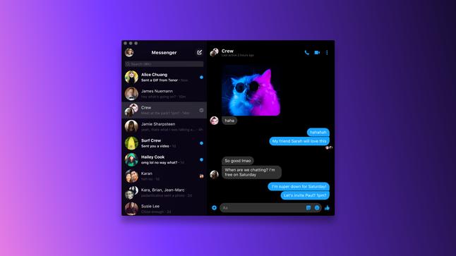 Facebook zachęca do korzystania z desktopowego Messengera, fot. Facebook.