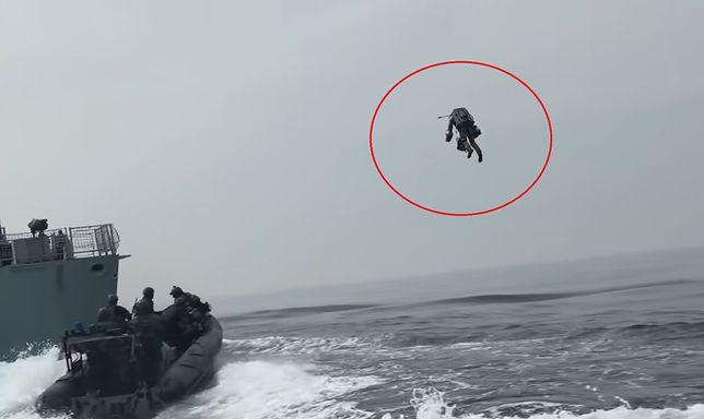 Royal Marines testują kombinezon odrzutowy Gravity