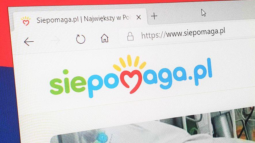 Siepomaga.pl poinformował o błędzie na stronie, fot. Oskar Ziomek