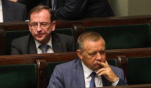 Marian Banaś i Mariusz Kamiński w Sejmie. 30 sierpnia 2019 r.