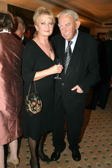 Magdalena Zawadzka i Gustaw Holoubek, wręczanie nagród Warszawskie Feliksy 2004
