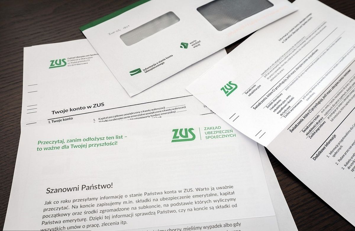 List od ZUS wkrótce powinien dostać już. Zakład skończył wysyłkę informacji o stanie konta