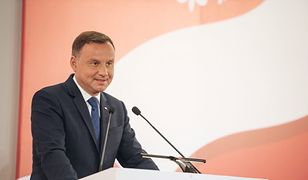Prezydent Andrzej Duda podczas inauguracji konsultacji przed referendum konstytucyjnym.