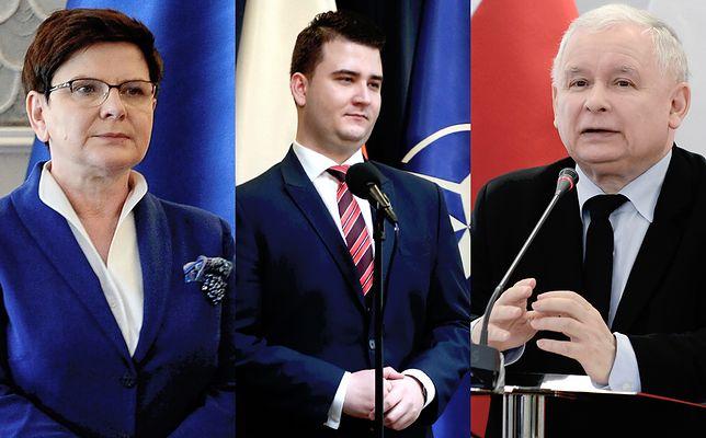 Beata Szydło, Bartłomiej Misiewicz, Jarosław Kaczyński