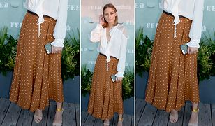 LOOK OF THE DAY: Olivia Palermo w modnych groszkach