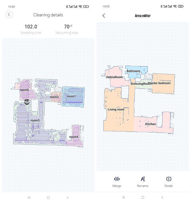 Mapa przed i po edycji