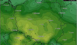 Prognoza pogody na Lany Poniedziałek.