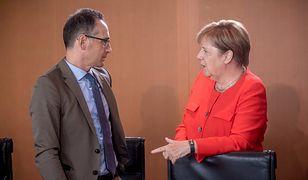 Minister spraw zagranicznych Niemiec Heiko Maas i kanclerz Angela Merkel