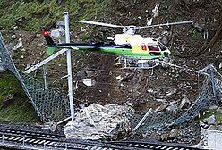 Wielka skała spadła na tory kolejowe w Szwajcarii