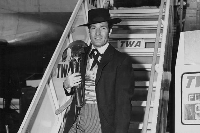 Hugo O'Brian w stroju Wyatta Earpa, lata 50.