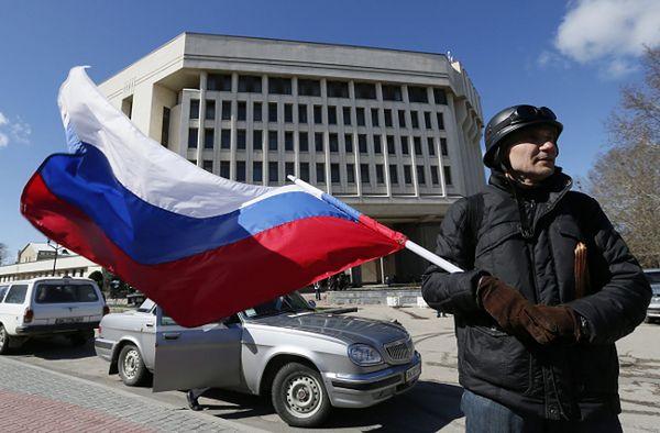 Zwolennik przyłączenia Krymu do Rosji, Symferopol