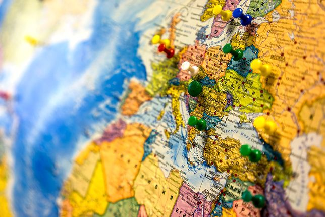 mapa, europa, kraje