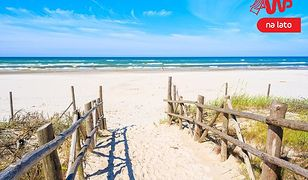 Krajobraz nadbałtyckiej plaży, jaki pamiętamy z dzieciństwa