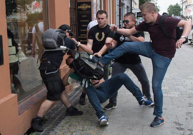 Bójka w czasie manifestacji w Radomiu
