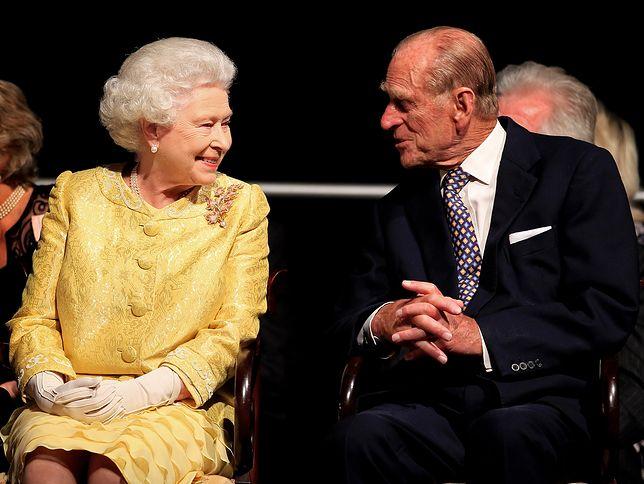 Królowa Elżbieta II z mężem