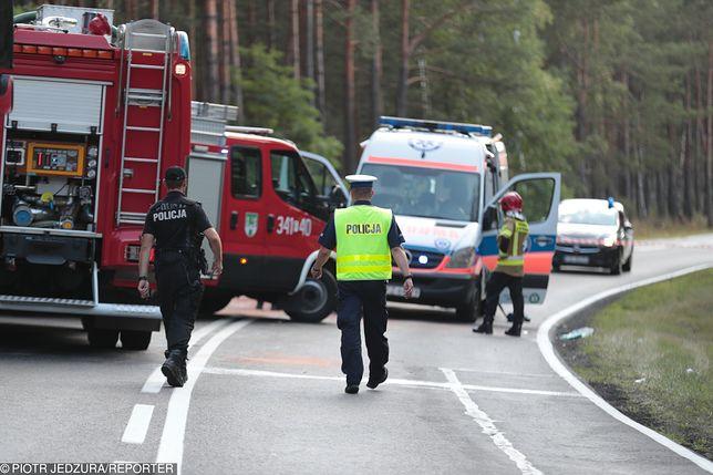 Na miejscu wypadku pracowała policja